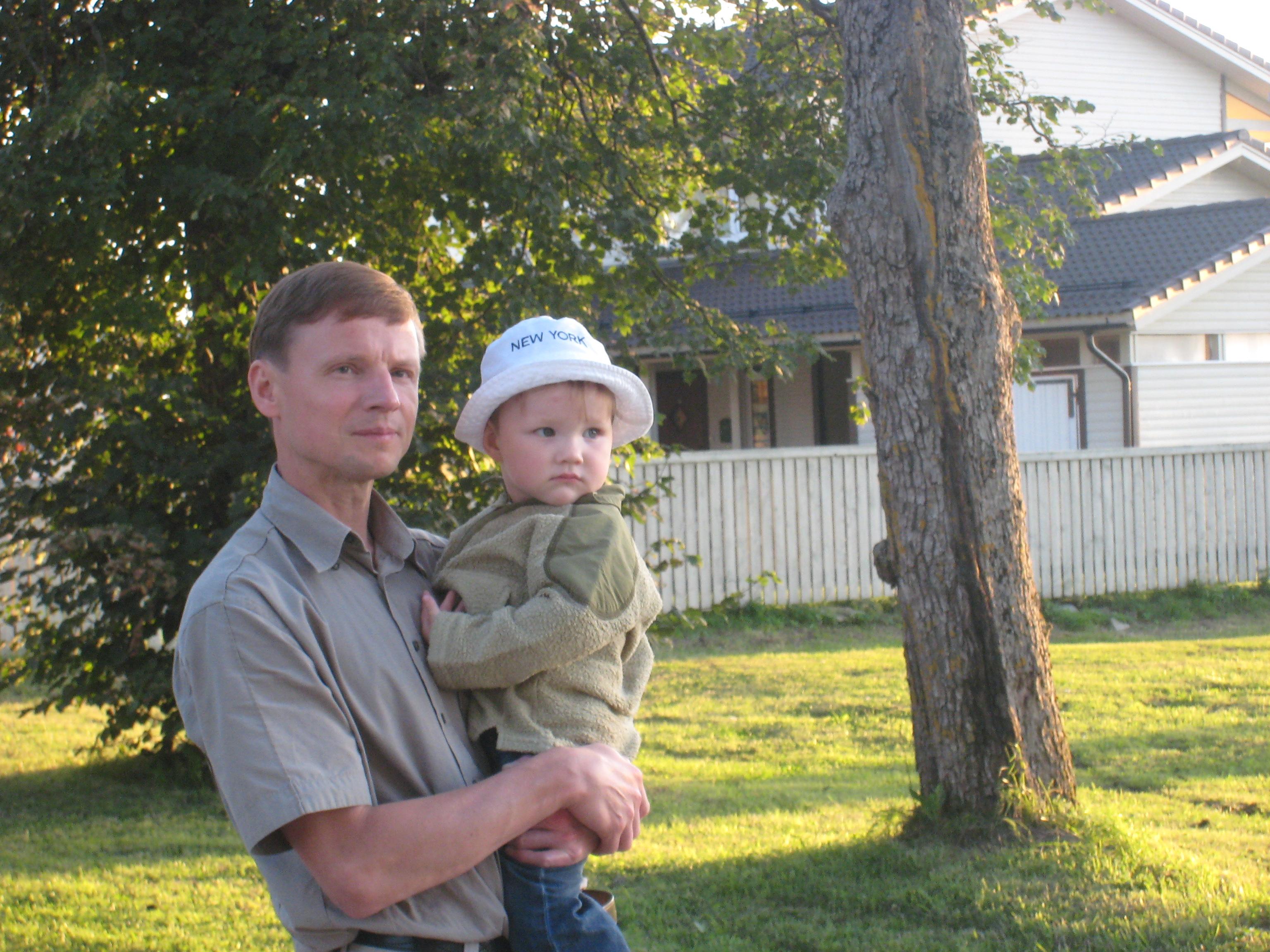 Pere kõige noorema pojaga Haapsalus 2009