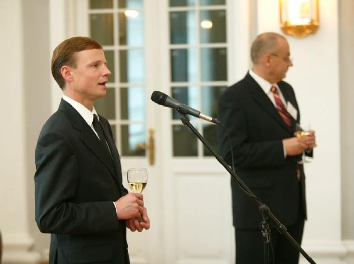 Rahandusminister Tõnis Palts ja Maksuameti peadirektor Aivar Sõerd 2003